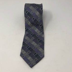 Calvin Klein Silk Tie grey/purple/white/blu 60x3